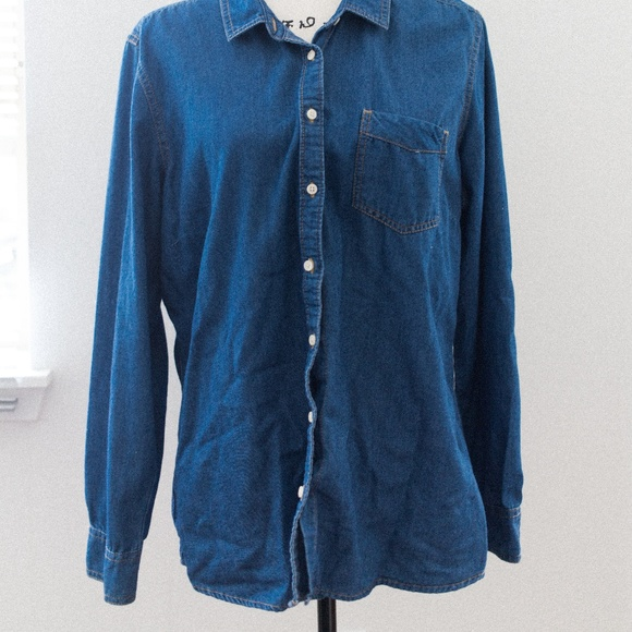 c59ea855c Eddie Bauer Shirts | Mens Oversized Denim Button Down Shirt | Poshmark